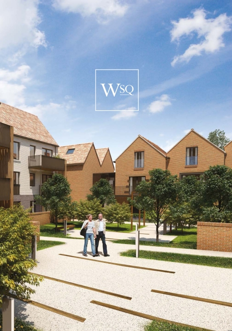 The developer's CGI perspective of Woodside Grove