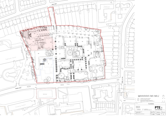 St Luke's site plan as proposed by PTEa