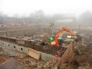 Woodside Square car park construction in progress