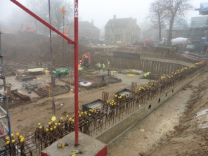 Woodside Square car park construction in progress