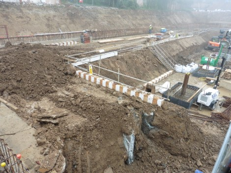 Woodside Square construction in progress